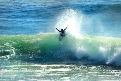 Andre--loving the Santa Cruz surf