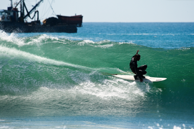 Playing with the rail in Chile. Photo-O'Brien