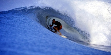 What surfer doesn't relish the tube.  Matt, tucked in all cozy like
